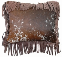 Leather & Fabric Accent Pillows
