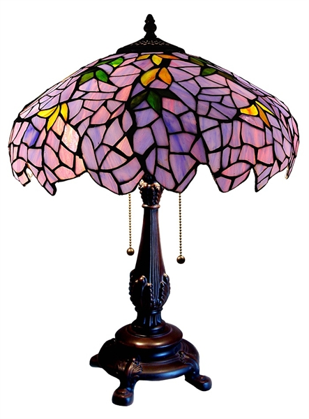 Lilac wisteria tiffany table lamp mozeypictures Image collections