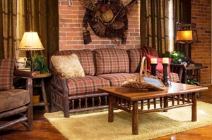 Elegant Living Room Furniture. Lodge Furniture, Rustic Lighting And Cabin Decor