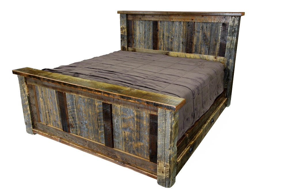 barnwood our two barn style bed furniture arched wood is log barns in this tone rustic platform