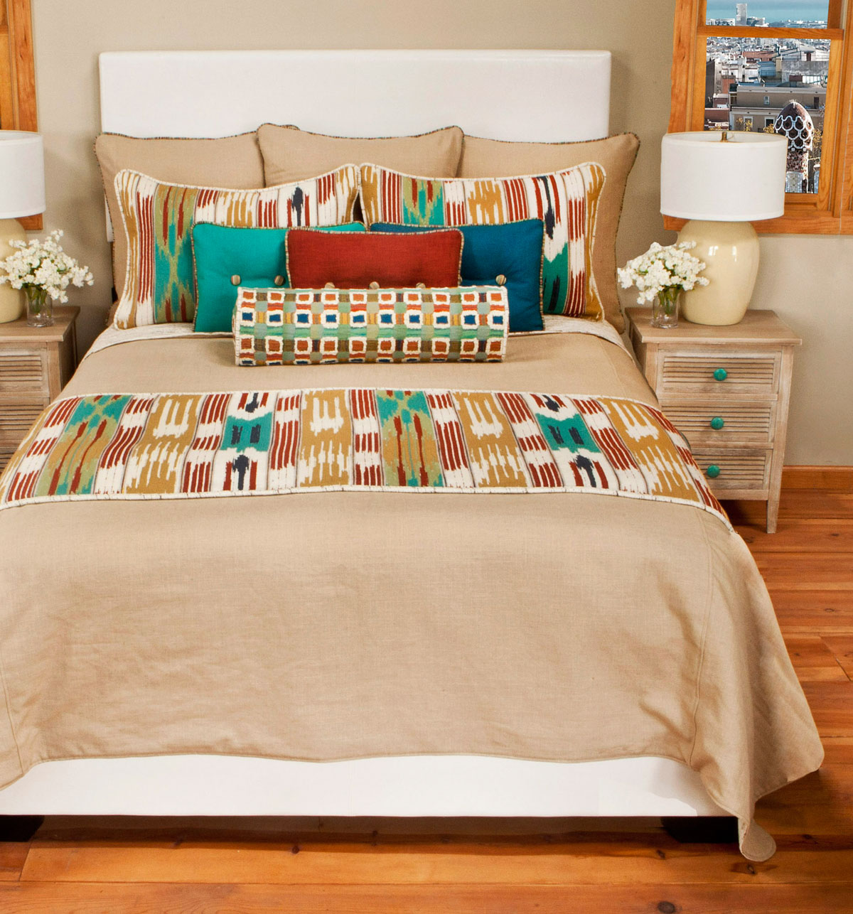 Serape Material Bed Set Queen