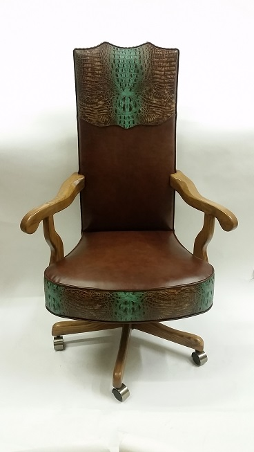 montana ranch spine turquoise office chair