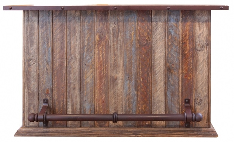 Multicolor Bar with Iron Footrest