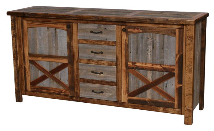Natural Barnwood Sideboard