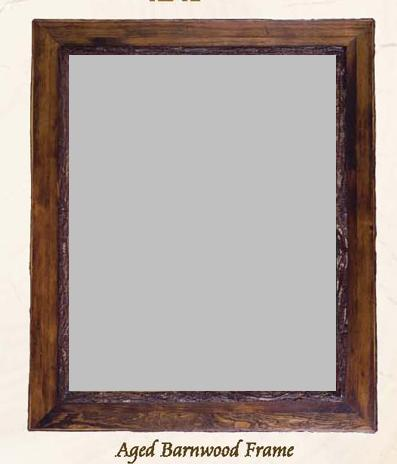Old Hickory Aged Barnwood Frame/Mirror - Lodge Craft