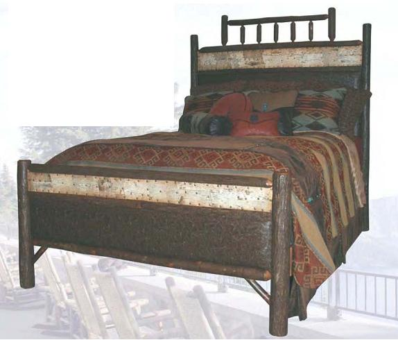 Old Hickory American Rustic Match Bed-Queen