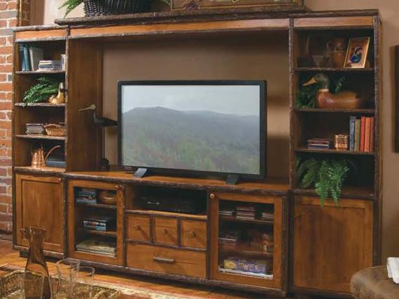 Old Hickory Entertainment Center Birch Accents Lodge Craft