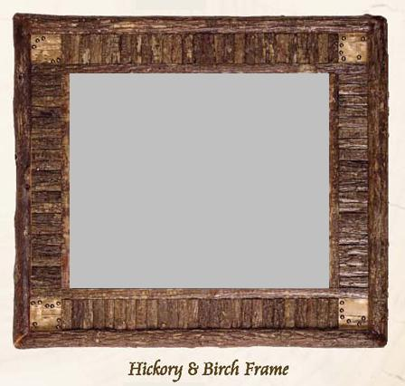 Old Hickory Hickory and Birch Frame Mirror - Lodge Craft