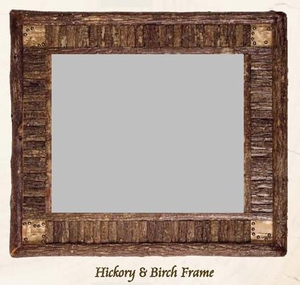 Old Hickory Hickory and Birch Frame/Mirror