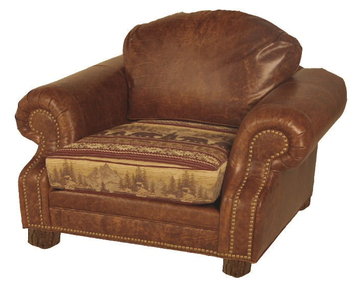 Old Hickory Roosevelt Chair With Ottoman Lodge Craft