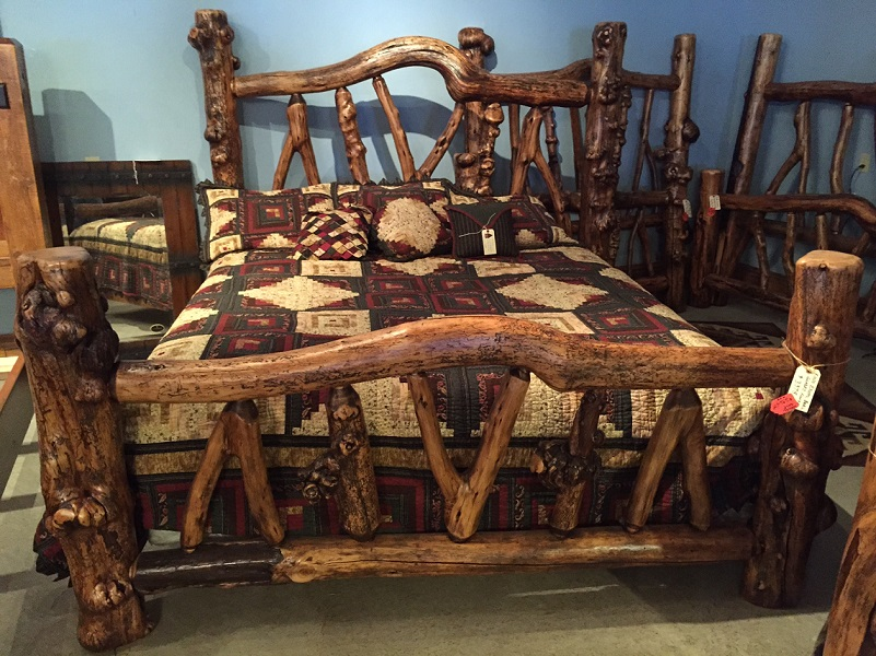 Oversize Exotic Log Bed Rustic Beds For Sale Buy Online Lodge Craft