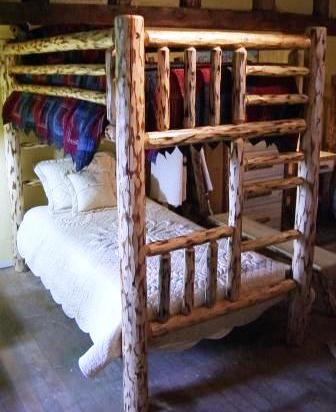 Pine Log Rustic Bunk Bed Twin Over Twin Buy On Lodge Craft