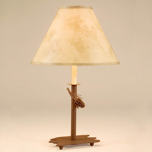 Pinecone Candlestick Table Lamp