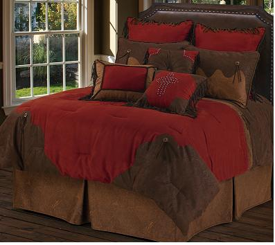 Red Rodeo Bed Set