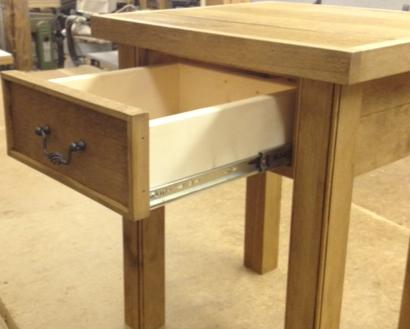 Rustic Alder 1 Drawer Side Table