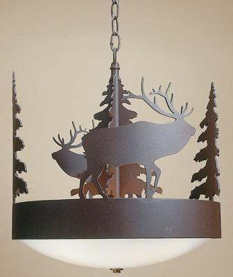 Scout Chandelier with Elk