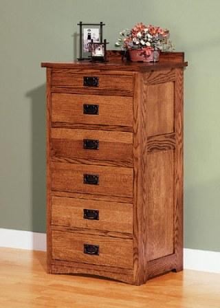 Mission Six Drawer Lingerie Chest Lodge Craft