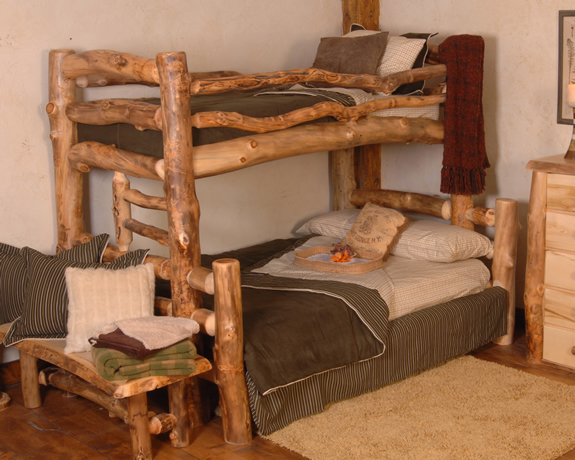 Summit Peak Bunk Bed Aspen Log Furniture Lodge Craft