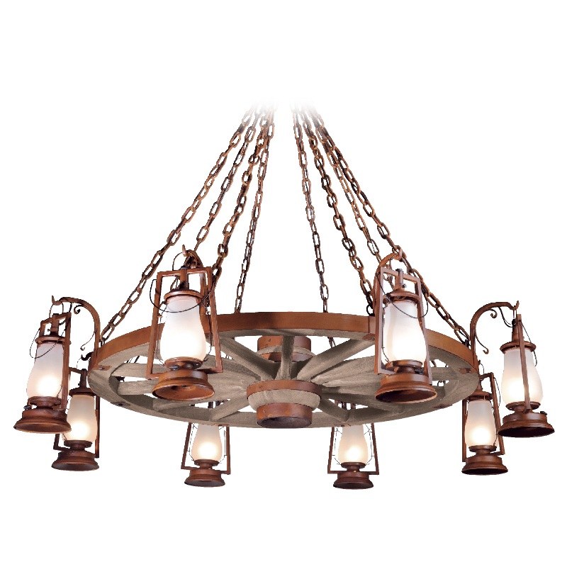 Sutter S Mill 49er Wagon Wheel Chandeliers