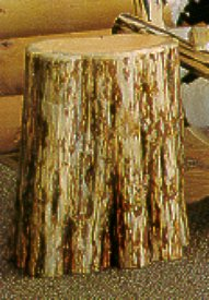 The Stump Tree Stump End Table Nightstand Lodge Craft