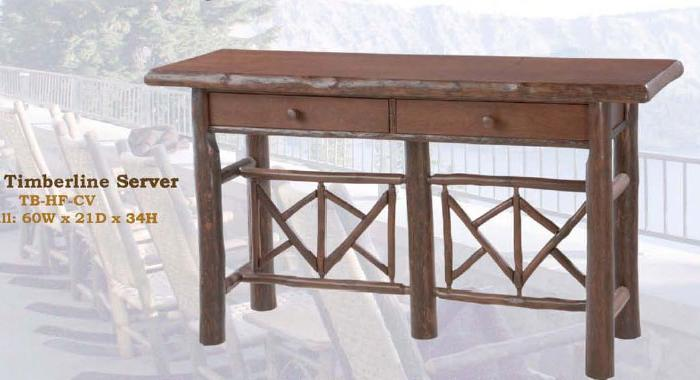 Timberline Server Old Hickory Furniture Lodge Craft