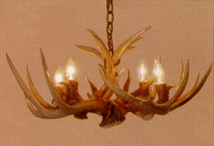 Whitetail 4 lamp antler chandelier lodge craft whitetail 4 lamp antler chandelier aloadofball Image collections