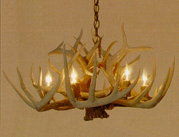 Whitetail 6 lamp antler chandelier lodge craft whitetail 6 lamp antler chandelier aloadofball Images