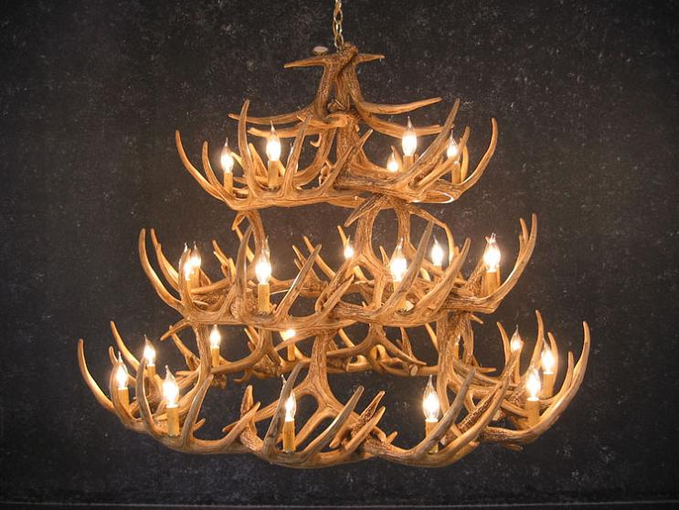 Whitetail Forty-Two Antler Chandelier