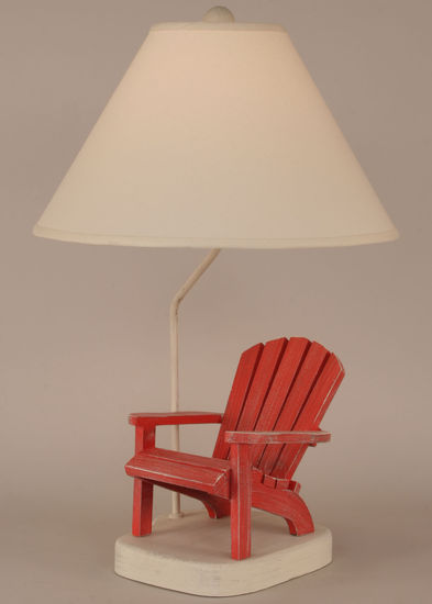 Wooden Adirondack Chair Table Lamp Rustic Cabin Lighting
