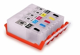 Compatible Refillable Ink Cartridges Combo for Canon PGI-250 CLI-251 - 5pk (PBK + BCMY)