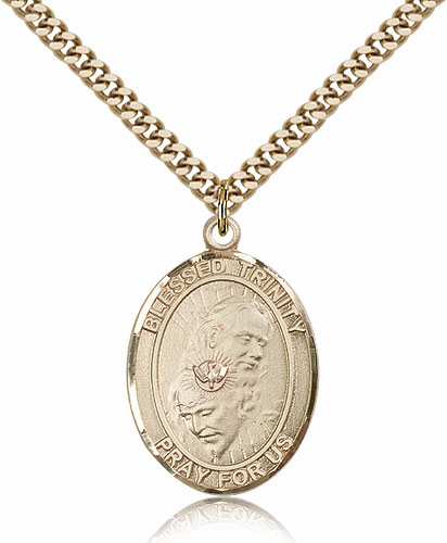 Blessed Trinity 14kt Gold-filled Saint Necklace by Bliss