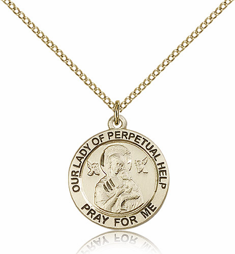 Bliss 14kt Gold Filled Our Lady of Perpetual Help Pendant Necklace