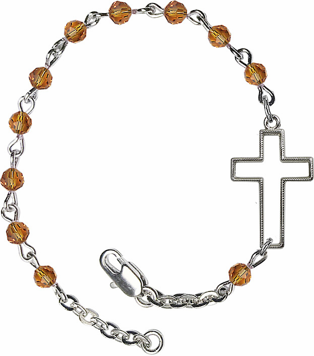 Bliss Birthstone Cross Bracelets