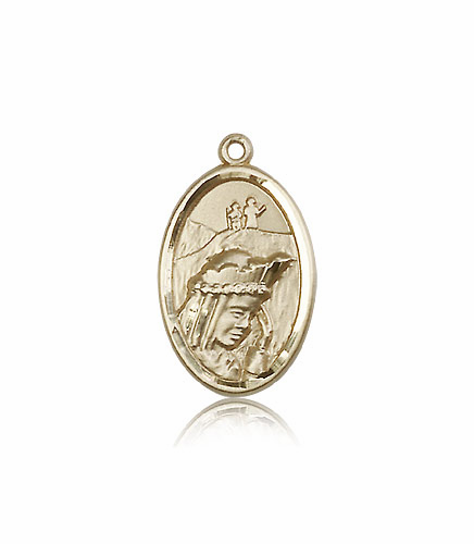 Bliss Manufacturing Our Lady of La Salette 14kt Gold Medal Pendant