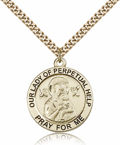 Bliss Manufacturing Our Lady of Perpetual Help 14kt Gold Filled Pendant Necklace