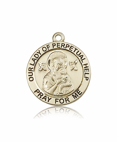 Bliss Manufacturing Our Lady of Perpetual Help 14kt Gold Patron Medal Pendant