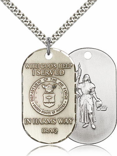 Bliss Mfg Air Force St Joan of Arc Medal Necklace