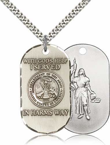 Bliss Mfg Army St Joan of Arc Necklace