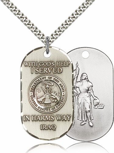 Bliss Mfg Army St Joan of Arc Served in Iraq Medal