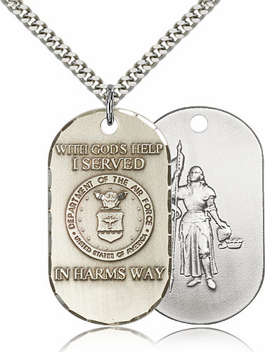 Bliss Mfg St Joan of Arc Air Force Necklace