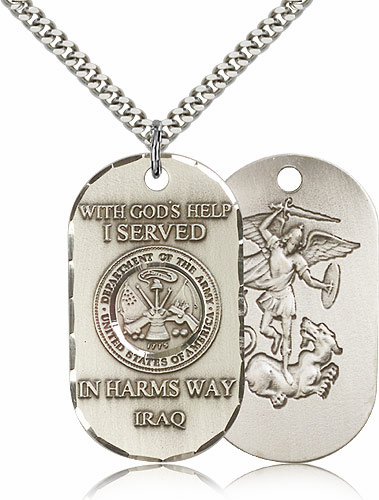 Bliss Mfg St Michael Army Military Necklace