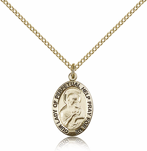 Bliss Our Lady of Perpetual Help 14kt Gold Filled Pendant Necklace