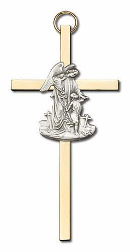 Bliss Polished Medal and Wood Wall Crosses