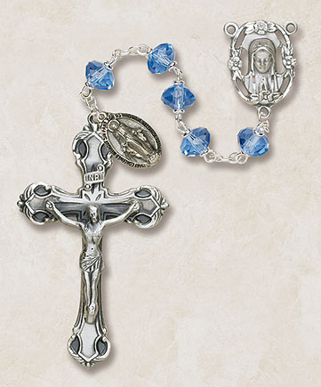 Creed Fatima Sun-Shaped Crystal Rosaries