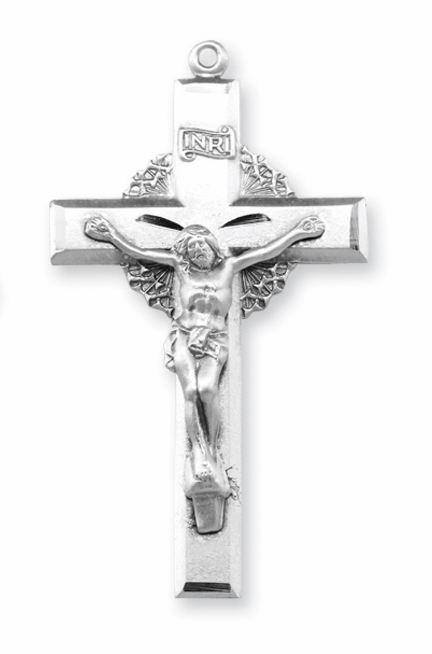 Crown of Thorns Sterling Silver Crucifix Rosary Parts by HMH Religious