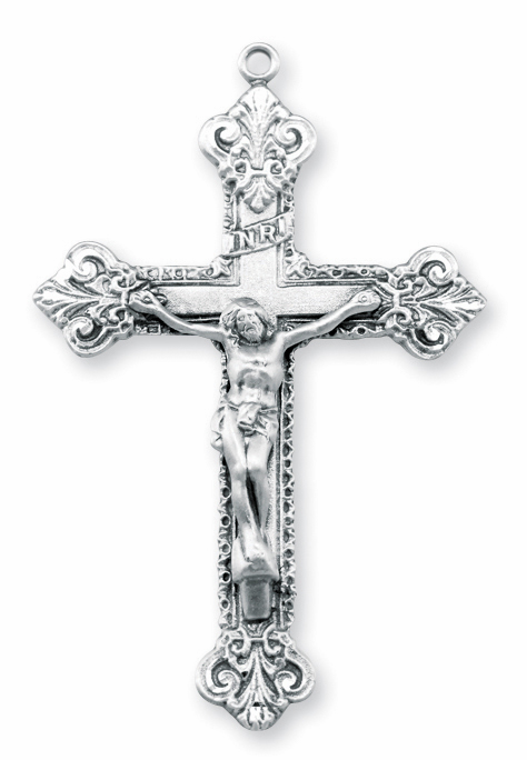 Elegant Ornate Sterling Silver Crucifix Rosary Parts by HMH Religious
