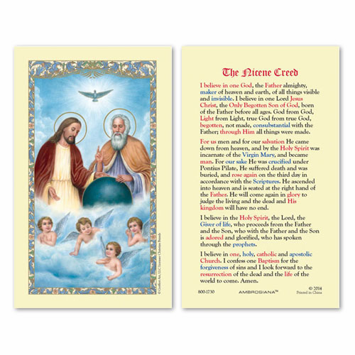Gerffert Holy Trinity The Nicene Creed Holy Prayer Cards