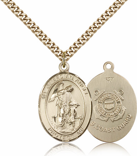 Guardian Angel Coast Guard 14kt Gold-Filled Saint Pendant Necklace by Bliss