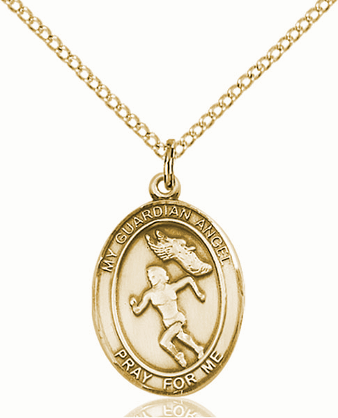 Guardian Angel Women's Track and Field Sports 14kt Gold-Filled Pendant Necklace by Bliss