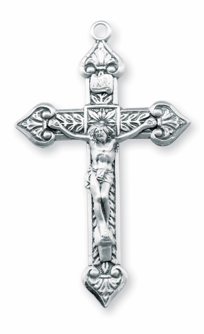 Heart Tip Sterling Silver Crucifix Catholic Rosary Part by HMH Religious